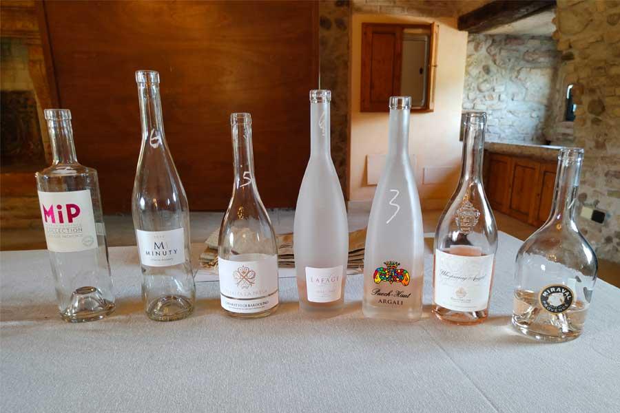 i vini rosati degustati alla cieca presso tenuta la presa