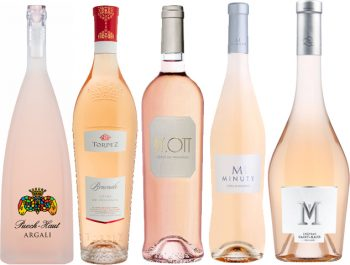 le bottiglie e le etichette dei vini provenzali