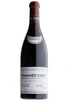 l'etichetta del vino di Romanée Conti