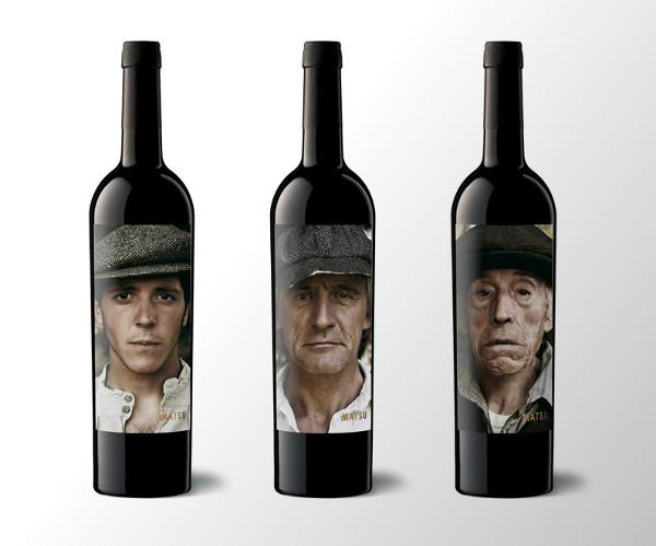 le etichette dei vini di Bodega Matsu